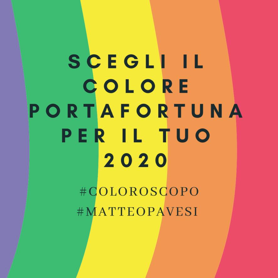 oroscopo 2020 colori